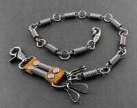 Men's Biker StreamPunk Heavy Metal Pants Fob Keychain Jean Wallet Chain W/ Hook
