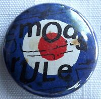 MODS RULE Old OG Vtg 1970`s Button Pin Badge 30mm Mod Target
