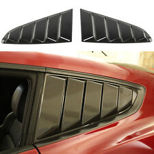 For Ford Mustang Carbon Fiber Side Window Louvers Scoop Cover Vent Trim 2015 Fits Mustang