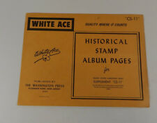 White Ace Historical Stamp Album Pages 1984 US Christmas Seals Supplement CS-11