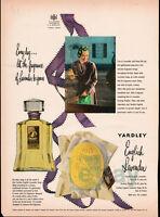 1950 Yardley English Lavender print ad - cologne, soap, powder