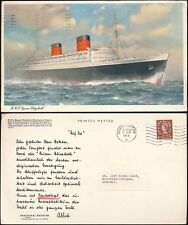 MARITIME GB 1959 LARGE POSTCARD RMS QUEEN ELIZABETH
