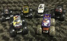 Monster Jam 1:64 Hot Wheels 6 truck lot Black Stallion Thunder 4X4 Storm Damage+