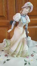 Lefton figurine  Victorian Lady With parasol KW 1471
