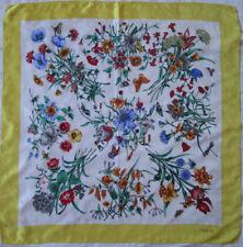 -Superbe foulard GUCCI   soie   TBEG vintage scarf 86 x 88 cm