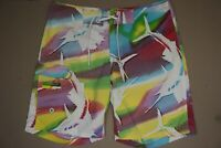 Columbia PFG Omni-Shade Board Shorts Women's Size 8 Multi-Color Swim Bottoms