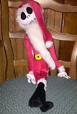 NWT Jack Skellington Santa Nightmare Before Christmas Poseable Doll 23""