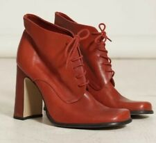 SUPER RAD VINTAGE RED LEATHER BOOTIES SIZE 7