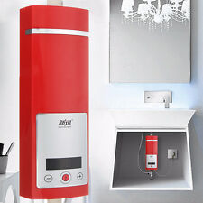 Electric Instant Water Heater Shower Kit Touch LED Display 5500W Tankless 220V