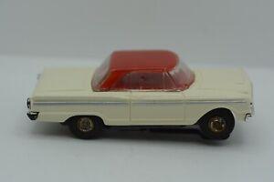 """Aurora T-Jet 500 White/Red #1353 """"FORD FAIRLANE"""" HO Slot Car"""