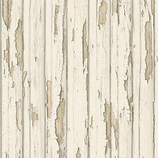 Dekora Natur creme Holz Tapete beunruhigt gemalt Holz 95883-1