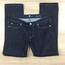 7 for All Mankind Women's Jeans Straight Leg Size 30 Actual W33 L27.5 (AN20)