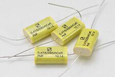 4x Selectronic MKP-PMF-Folienkondensator / Motorkondensator, 0.47 µF, 250 VAC