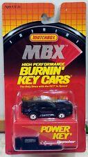 Matchbox BURNIN KEY CAR 80s Pontiac Firebird Trans Am Black w POWER KEY LAUNCHER