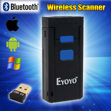 Portable Wireless Bluetooth Barcode USB Scanner For iOS Android Windows 7/8 USA