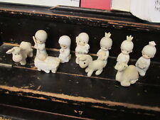 Precious Moments Come Let Us Adore Him 10 piece Nativity