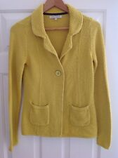 Laura Ashley Gold / Mustard / Yellow Knit Cardigan / Jacket Size 12