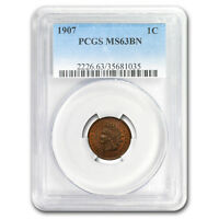 1907 Indian Head Cent MS-63 PCGS (Brown) - SKU#179516