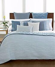 "$215 Hotel Collection Finest Waves 20"" Square Velvet Silk Mist Decorative Pillow"