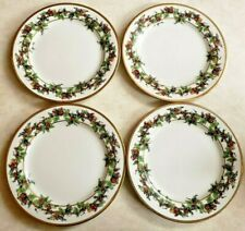 Vintage Royal Gallery The Holly & The Ivy 4 Salad Plates