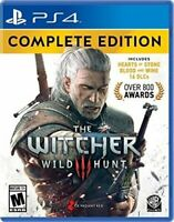 THE WITCHER 3 III WILD HUNT COMPLETE PS4 NEW! NTSC USA VERSION! MONSTER HUNTER
