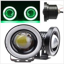 """2x Green 2.5"""" LED Daytime 6000K Xenon Angel Eyes Car SUV Fog Running Light Lamp"""