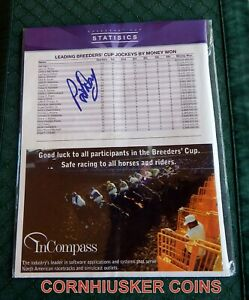 2009 BREEDERS CUP PROGRAM CLIPPING SIGNED BY HALL OF FAME JOCKEY PAT DAY
