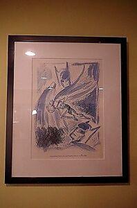 JOHN MAIORIELLO BATMAN ORIGINAL SKETCH ART COLLECTION BY BOB KANE L.E. 196/500 2