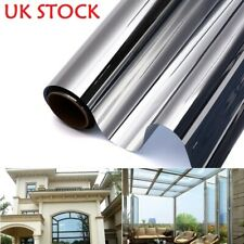 Silver Reflective One-Way Mirror Window Film Mirrored Privacy Sticky Glass Tint