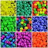 CHOOSE COLOR! 40pcs 5.5mm NEON Pony Beads (UV Active) Czech Pressed Glass