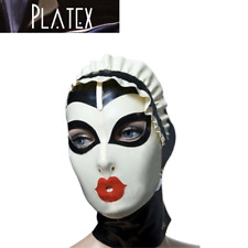 Platex Latex Rubber Hood with Ruffle Detail & Rear zip NEW RRP £150