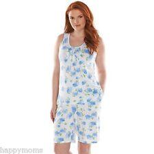 NWT CHAPS Bermuda Shorts White Blue Pajama Set Plus Size 2X Sleepwear $54