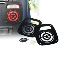Xprite Steel Star Tail Light Cover Guard Trim For 1987 2006 Jeep Wrangler Tj Yj Fits Jeep