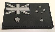 Australian Flag Patch, PVC / Rubber, Subdued, Hook Rear, 8cm x 4.5cm