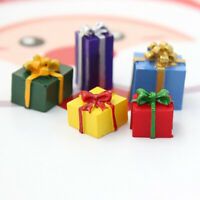 5PCS 1/12 Scale Miniature Dollhouse Christmas Gift Box Decoration Accessories