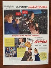 1940s Camels Cigarettes 1942 WW2 Factory Women B-24 Bomber Vintage Print Ad