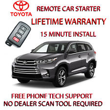 2017 2018 TOYOTA HIGHLANDER REMOTE STARTER -EASY INSTALL FOR SMART KEY ONLY.