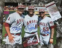 Mike Trout Albert Pujols Signed 11x14 Autograph Photo JSA MLB Hologram Authentic