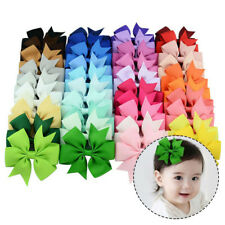 10Pcs Colorful Bowknot Hairpin Kids Baby Girls Hair Bow Clip Barrette Wholesale