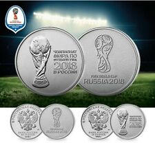 Russian 25 rubles UNCIRCULATED 2018 FIFA World Cup Russia Football SET OF 2