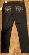 New WallFlower Junior's Women Luscious Curvy Skinny Black Jeans Denim Sz 15 NWT