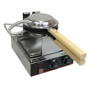 Waffle Maker Catering Commercial Iron Restaurant Round Non-Stick Plate Stainless