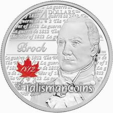 Canada 2012 War 1812 Bicentennial 200th Heroes 2 Sir Isaac Brock $4 Silver Proof