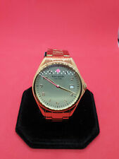 kate spade new york gold tone bracelet watch live colorfully,date display.#116.