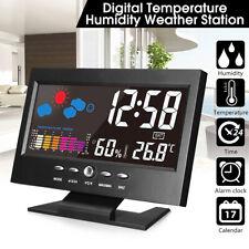 Colore LCD stazione meteo Wireless Outdoor sveglia termometro igrometro !