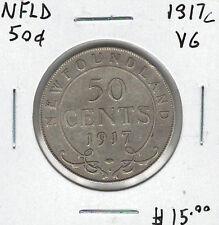 Canada Newfoundland NFLD 1917c 50 Cents VG Lot#2