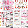 Valentines Nail Art Stickers Water Decals Hearts Lips Bows Kiss Love Hearts Lace