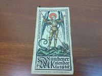 MÜNCHENER KALENDER Otto Hupp Heraldic Woodblock Prints  Munich Calendar 1895