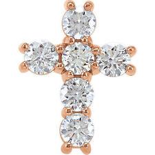 Cruz Diamante 45.7cm Collar en 14k oro rosa ( 3/4 Ct. TW