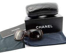 CHANEL Sonnenbrille 5114-B c.538/13 58[]15 Square Wrap Brown c2007 + Deluxe Case